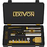 LEXIVON Butane Soldering Iron Multi-Purpose Kit | Cordless Self-Igniting Adjustable Flame 7-Tip Set | Pro Grade 125-Watt Equivalent (LX-770)