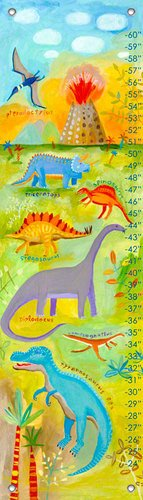 Oopsy Daisy Dino Scene by Donna Ingemanson Growth Charts, 12 by 42-Inch by Oopsy Daisy