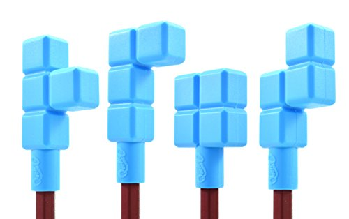 Quad Blockz Chewable Pencil Toppers 4 Pack