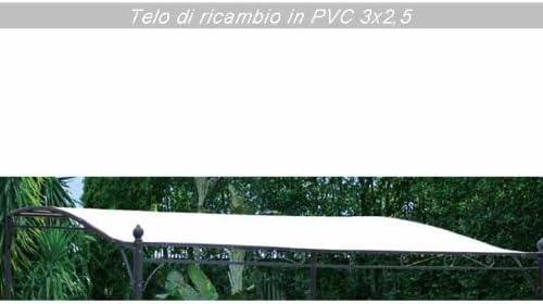 WEBMARKETPOINT Telo di ricambio per gazebo da giardino 3x2,5 colore ecru per esterno