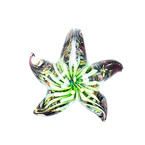 Paracord Planet Glass Starfish Pendants Available in Various and Unique Colors (Lime Green