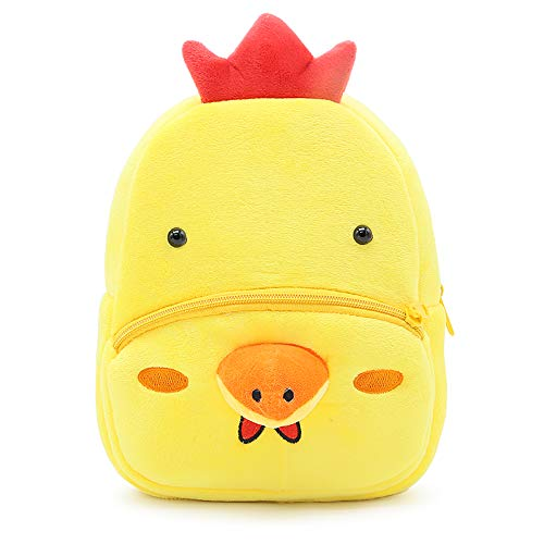 Price comparison product image New Toddler's Backpack, Toddler's Mini School Bags Cartoon Cute Animal Plush Backpack for Kids Age 1-4 Years (Chicken)