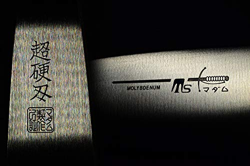 Seki Japan Sushi Chef Knife, Japanese Sashimi Deba knife, AUS-8 High Carbon Stainless Steel, Straight Edge Stamped Knife, 5.1 inch (130mm) by seki japan (Image #5)