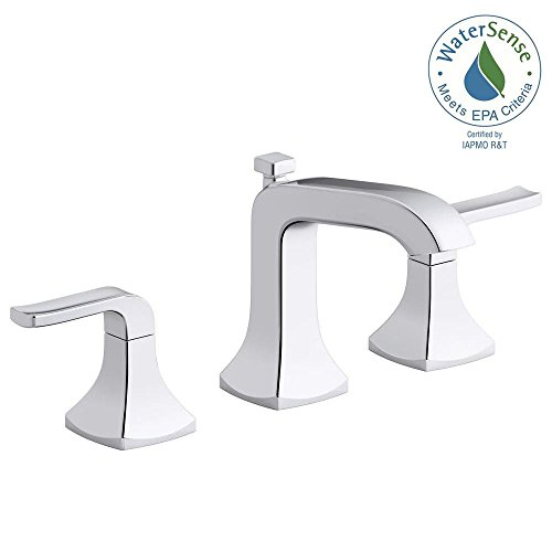 KOHLER Rubicon 8 in. Widespread 2-Handle Bathroom Faucet in Polished Chrome