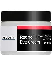 Retinol Eye Cream Moisturizer 2.5% from YEOUTH Boosted w/Retinol, Hyaluronic Acid, Caffeine, Green Tea, Anti Wrinkle, Anti Aging, Firm Skin, Even Skin Tone, Moisturize and Hydrate … (1oz)