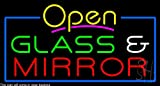 Glass and Mirror Clear Backing Neon Sign 20'' Tall x 37'' Wide