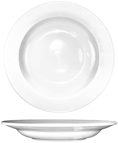 ITI-DO-125 Porcelain Dover 12-3/4-Inch Pasta Bowl, 25-Ounce, 12-Piece, White