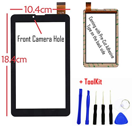7 Touch Screen Digitizer Glass Replacement for 7in Vulcan VT0703A Phablet Phone 7