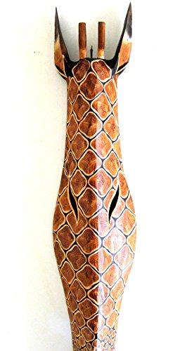 (OMA Giraffe Mask Wall Hanging Decor Wood Carved Giraffe African Safari Decor XLARGE SIZE 40