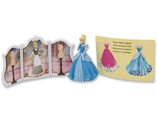 DecoPac Disney Princess Cinderella Transforms DecoSet Cake Topper - Cinderella Cake Decorations