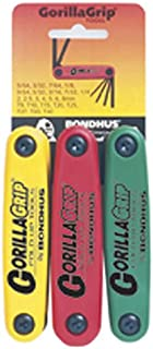 product image for Bondhus 12533 GorillaGrip Hex and Star Fold-up Triple Pack, 12587 (2-8mm), 12589 (5/64-1/4-Inch) & 12634 (T9-T40)