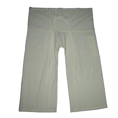 Blanco YOGA masaje Wrap pantalones Pescador pantalones único ...