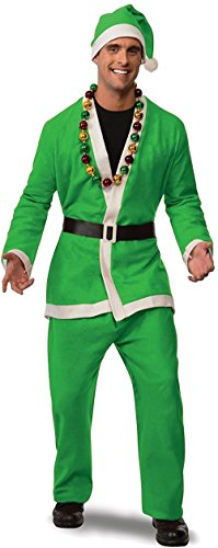 Rubie's Men's Clausplay Neon Green Santa Suit, Green, (Santa Elf Suits)