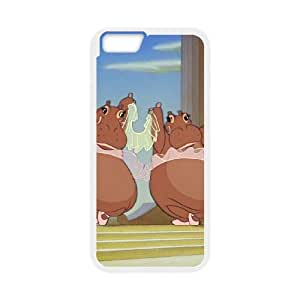 Disney Fantasia Character Hyacinth Hippo iphone 6 Plus 5.5 Inch Cell Phone Case White Phone Accessories JV209G99