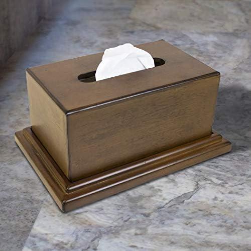 American Furniture Classics concealment tissue box, Walnut Finish