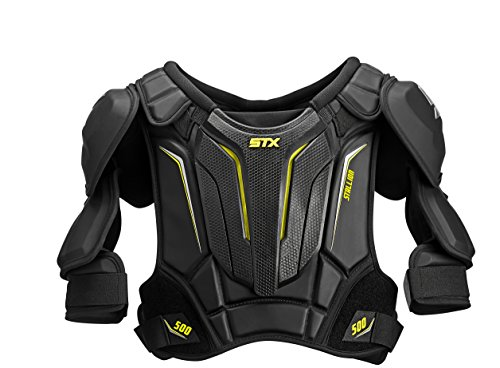 STX Stallion 500 Senior Ice Hockey Shoulder Pad, Black/Yellow, X-Large