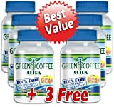 Green Coffee Ultra: 100% PURE Green Coffee Bean Extract with GCA (6 bottles)