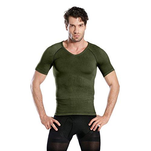 Hoter Mens Slim and Tight Super Soft Compression & Slimming Shaper V-Neck Compression Shirt by HÖTER (Image #3)