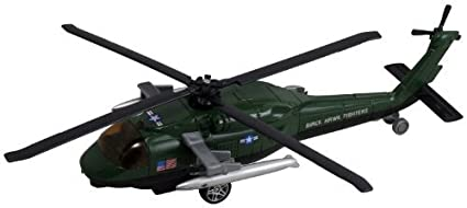 Amazon com: InAir Blackhawk Helicopter Pullback 8 Inch (Dark