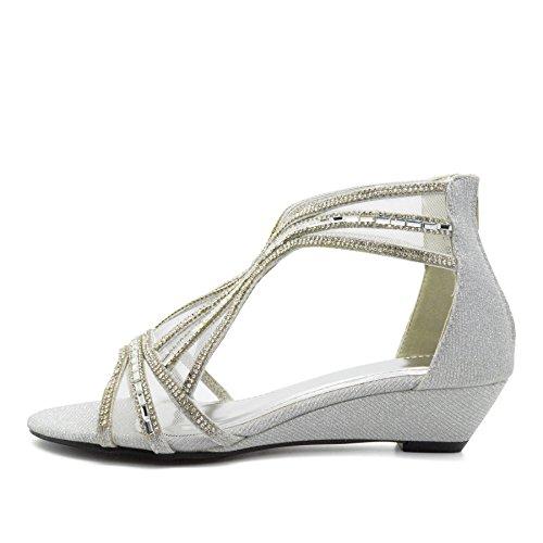 London Footwear - Zapatos de tacón  mujer plata