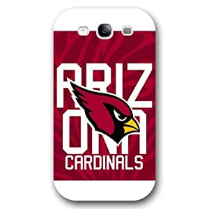 UniqueBox Customized NFL Series Case for Samsung Galaxy S3, NFL Team Arizona Cardinals Logo Samsung Galaxy S3 Case, Only Fit for Samsung Galaxy S3 (White Frosted Shell)