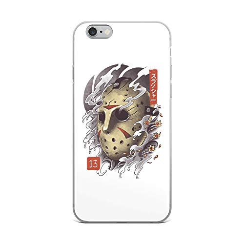 iPhone 6 Plus/6s Plus Case Anti-Scratch Motion Picture Transparent Cases Cover Oni Jason Mask Movies Video Film Crystal Clear]()