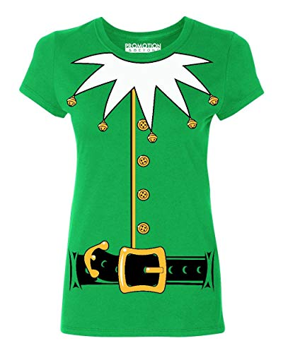 Promotion & Beyond Santa's Helper Elf Christmas Costume Jumbo Print Women's T-Shirt, M, ()