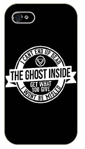 """iPhone 6 (4.7"""") I can't get up dead.. The ghost inside - Black plastic case / Inspirational and motivational life quotes / SURELOCK AUTHENTIC"""