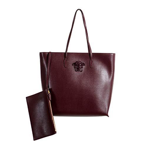 Versace 100% Leather Burgundy Women's Shoulder Bag