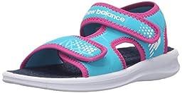 New Balance Sport 2 Strap Adjustable Sandal (Infant/Toddler/Little Kid/Big Kid), White/Blue, 3 M US Little Kid