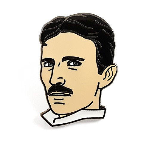 Pinsanity Nikola Tesla Enamel Lapel Pin