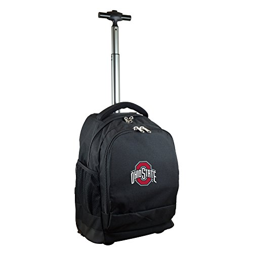 (NCAA Ohio State Buckeyes Expedition Wheeled Backpack, 19-inches, Black)