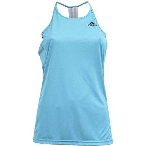 adidas Womens Training Performer Step Up Tank, Energy Blue/Black, Large