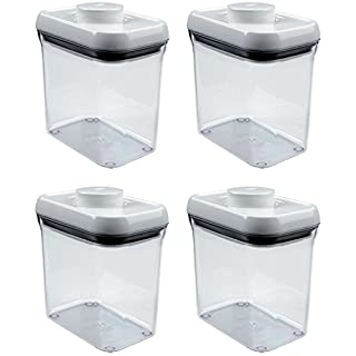 OXO Good Grips POP Rectangle 1.5-Quart Storage Container (Set of 4),Clear