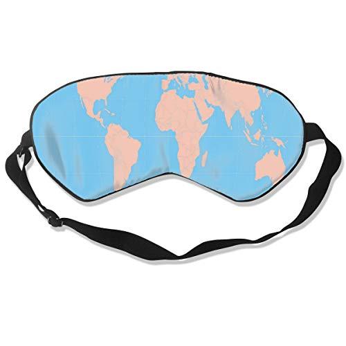 Unisex Sleeping Eye Mask World MAPS Printable Eye Mask Cover with Adjustable Strap Blindfold Eyeshade for Travel, Nap, Meditation ()