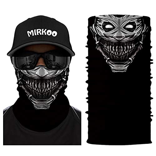 MIRKOO 3D Breathable Seamless Tube Face Mask, Dust-proof Windproof UV Protection Motorcycle Bicycle ATV Face Mask for Cycling Hiking Camping Climbing Fishing Hunting Motorcycling ()