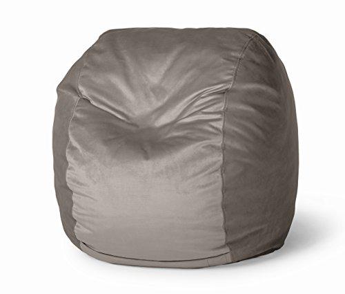 Take Ten 30-Inch Lounger Bean Bag Chair - Graphite Gray