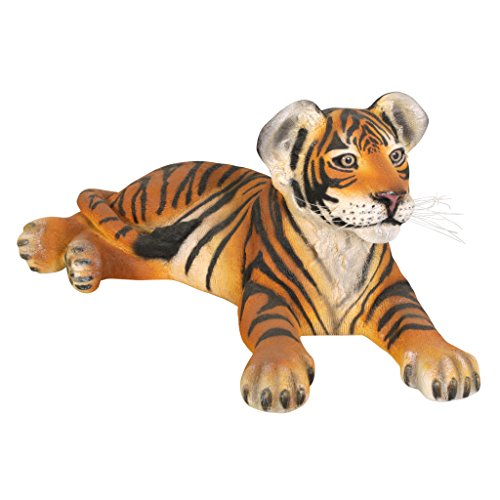 Grand Scale Lying Down Tiger Cub Statue