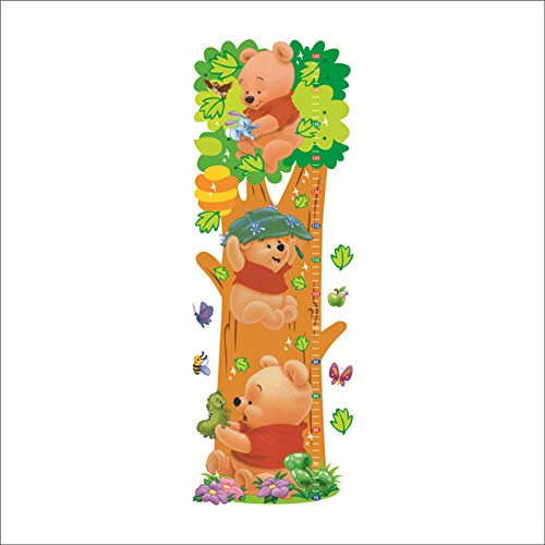 qingyuge Wall Sticker Home Decoration Cartoon Wall Sticker Zoo Cartoon Winnie The Pooh Children's Room Wall Decal Kindergarten Party Gift Poster]()