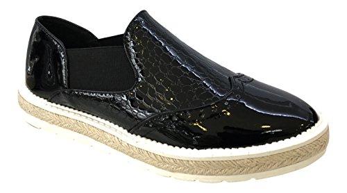 WS - Zapatos de Cordones de Material Sintético Mujer