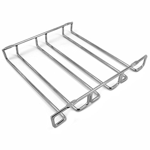 JMiles Under Cabinet Hanging Stemware Rack Hold Up To 9 Wine Glasses (Chrome) by J Miles CO (Image #1)