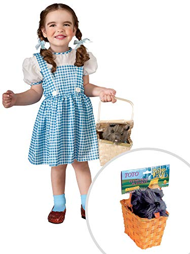 Wizard Of Oz Dorothy Costume Kit Classic Infant With Toto Tm In A Basket ()