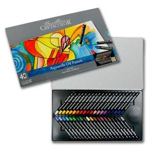 Cretacolor Watersoluble oil Pastels Aquastic Tin Set of 40