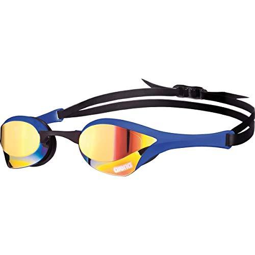Arena Cobra Ultra Mirror - anteojos de natación, Yellow Copper/Blue, Una Talla