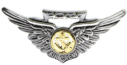 Navy Aircrew Two Tone Wings Hat or Lapel Pin -