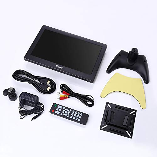 Eyoyo 12 inch HDMI Small TV Monitor, Portable Kitchen TV 1366x768 16:9 LCD Screen Support TV/HDMI/VGA/AV/USB Input with Remote Control, Wall Mount Bracket for DVD PC Raspberry pi Computer by Eyoyo (Image #6)
