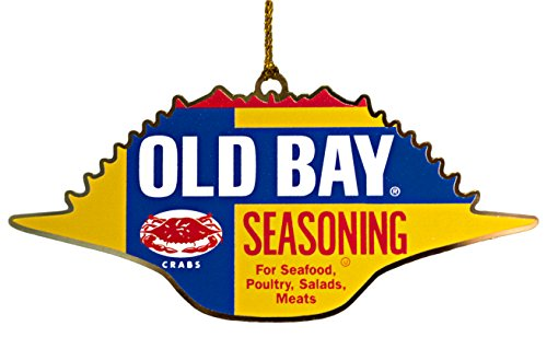 Old Bay Seafood Seasoning 4 Inch Brass Crab Ornament