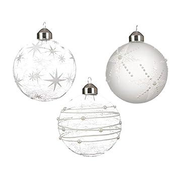 Transparente Christbaumkugeln.12 Weihnachtskugeln 8cm Transparent Transparent Glas Set