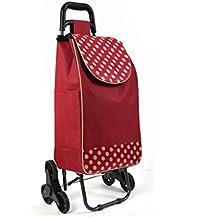Folding Shopping Cart, Stair Climbing Cart Grocery Utility Cart Wheel Bearings