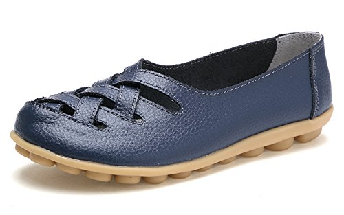 VenusCelia Damen Comfort Walking Casual Flacher Loafer Tief / Marine